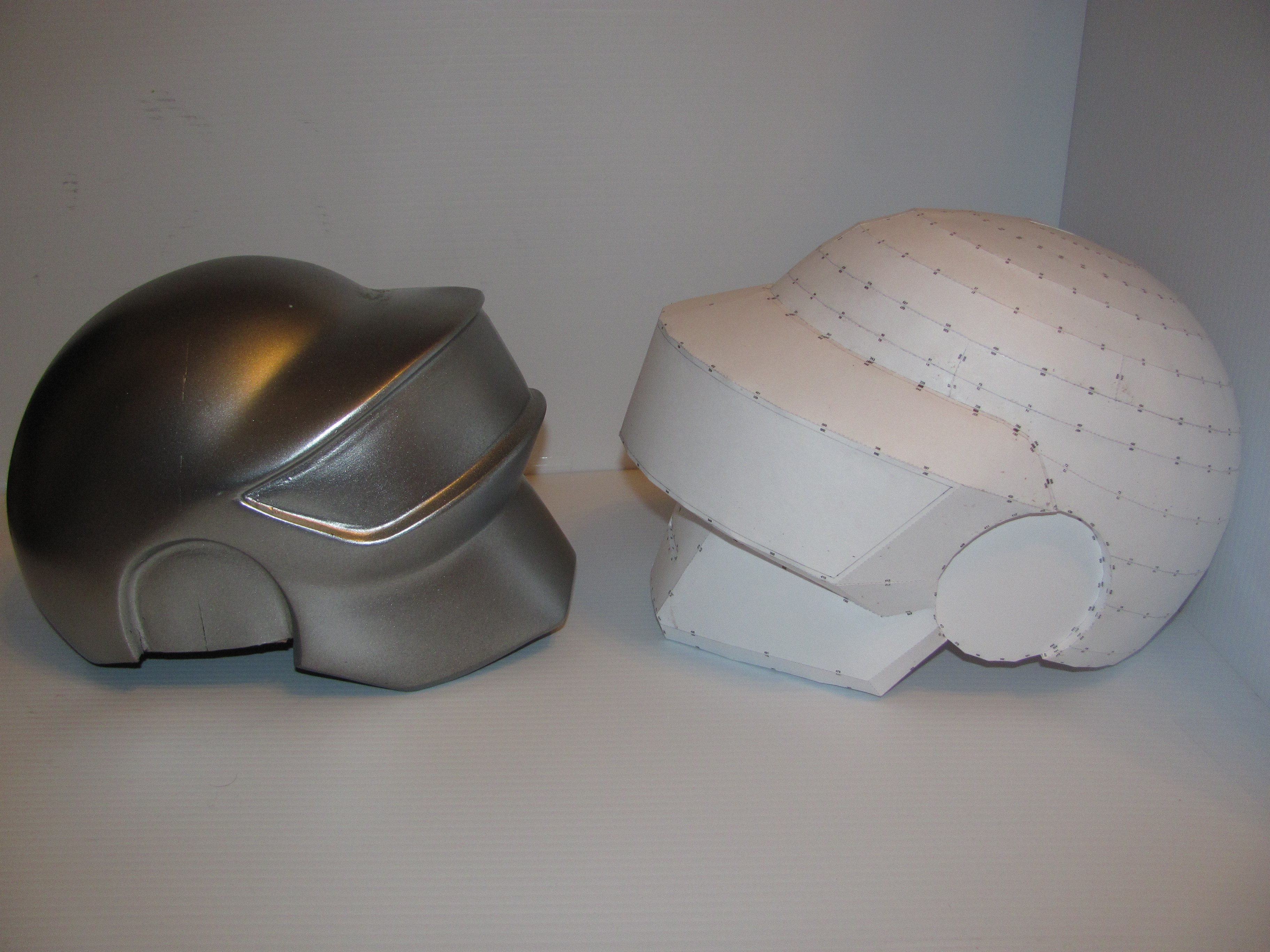 how to make a daft punk helmet out of paper